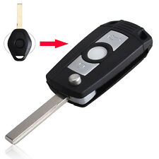 Blank 3 Buttons Remote Flip Key Case fit for E81 E46 E39 E63 E83 E53 E36 Fob