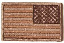 """BROWN DESERT AMERICAN FLAG right arm PATCH P9031 EMBROIDERED 3"""" BIKER military"""