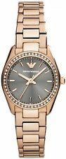 NEW EMPORIO ARMANI AR6030 LADIES ROSE GOLD WATCH - 2 YEAR WARRANTY