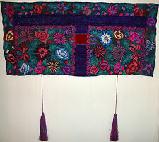 Chiapas Native Mexican Mayan HANDWOVEN EMBROIDERED Huipil Shawl Wall Hanging