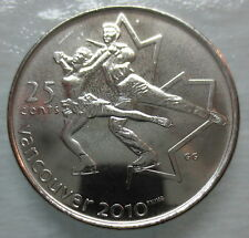 2008 CANADA 25¢ OLYMPIC FIGURE SKATING BRILLIANT UNCIRCULATED QUARTER