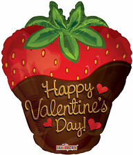 Chocolate Covered Strawberry Happy Valentine's Day Balloon