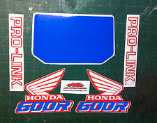 serbatoio Honda XR 600 R cristal e pro-link  - adesivi/adhesives/stickers/decal