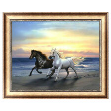 Steeds DIY 5D Diamond Embroidery Horses Painting Cross Stitch Craft Home Decor