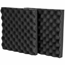 "NEW Sound Recording Acoustic Foam (2) 12""x12""x 1.5"".Studio Booth Wall Vocal Pad"