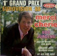 "7"" GRAND PRIX 1966 (AUSTRIA) UDO JÜRGENS Merci Cherie RARE FRENCH EP PRESS !"