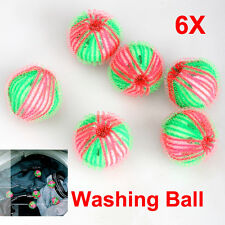 6Pcs/Pack Reusable Laundry Washing Machine Tumble Dryer Cleaning Balls Cleaner
