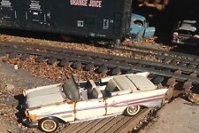 "Autoart,franklin mint 1957 Pontiac  conv."" Junkyard "" 1/24 Barn find,rusted"