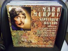 MARK MURPHY September Ballads LP EX 1988 Milestone Rec Larry Coryel Art Farmer