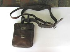 WWI IMPERIAL GERMAN OFFICERS LEATHER DOCUMENTS & MAPS CASE WITH BELT RARE