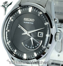 New SEIKO KINETIC DEEP BRONZE FACE Day Date STAINLESS STEEL BRACELET SRN045P1