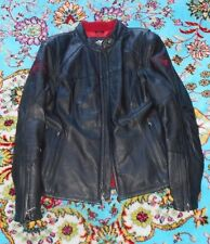 HARLEY WOMEN'S JACKET BLACK GENUINE LEATHER WITH RED EMBROIDERY WORK...SIZE L