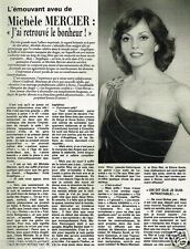 Coupure de Presse Clipping 1981 (3 pages) Michèle Mercier