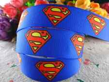 "1m SUPERMAN SUPERGIRL CHARACTER GROSGRAIN RIBBON 7/8"" 22mm HAIR BOW CAKE RIBBON"