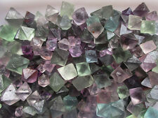100g AAAA+++ Natural beautiful Fluorite Crystal Octahedrons Rock Specimen China
