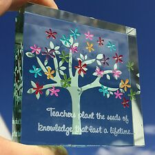 Spaceform Glass Tree Medium Paperweight Thank You Teacher Keepsake Leaving Gift