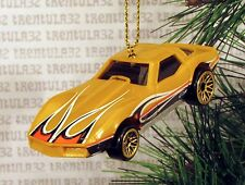 '75 CHEVY CORVETTE STINGRAY 1975 CHEVROLET DARK YELLOW CHRISTMAS ORNAMENT XMAS