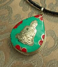 Tolles Tibet. AMULETT GAU Buddha aus NEPAL mit Türkis und Koralle