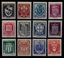 ARMOIRIES de France de 1941, Neufs ** = Cote 38 € / Lot Timbres France 526 à 537