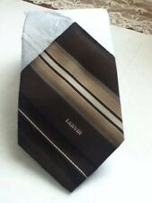 Lanvin Brown Neck Tie Classic Skinny Striped