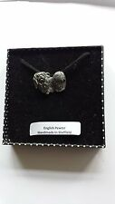 D9 Pekingese Motif Pewter  PENDENT ON A  BLACK CORD  Necklace Handmade