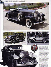 1931 Cadillac LaSalle Article - Must See !!