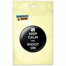Keep Calm And Shoot On Camera Photography Pinback Button Pin Badge