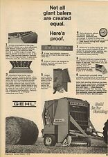 Original 1976 Gehl Baler Magazine Ad - Not All Giant Balers are Created Equal