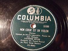LUCIENNE BOYER *Rare Version*  Mon coeur e. un violon/Je ne cr. p. au Père Noel