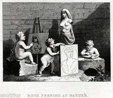 William Hogarth: For the benefit of Spiller. Satira.Acciaio.Steel Engraving.1850