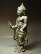 ANTIQUE BURMESE BRONZE PAGAN BUDDHA STATUE. MYANMAR, 11/12th C.
