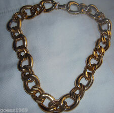 """Vintage Costume Jewelry Signed NAPIER Chunky Gold Tone Link Chain 20"""" Necklace"""