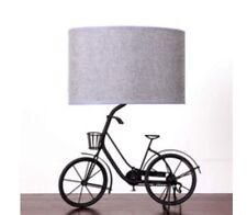 Vintage Retro Bicycle Bike Table Lamp Grey Linen Shade NEW Kids Bedroom BNWT