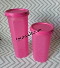 Tupperware Round Modular Mates Set Pink #3, #4 New!!