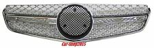Front Grill Grille E63 AMG Style 10-13 For Mercedes C207 W207 Chrome-Silver