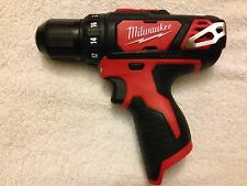 "New Milwaukee  M12 2407-20 12V 12 Volt Li-ion 3/8""  Drill Driver"