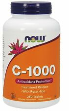 Vitamin C-1000 Sustained Release 250 Tablets - NOW Foods