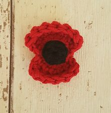 Remembrance Poppy Brooch supporting The Royal British Legion ~ Hand crocheted
