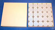 25 LARGE DOLLAR SIZE SQUARE Coin Tubes in Heavy Duty Storage Box- COINSAFE