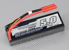 TURNIGY 5000mAh 2S 7.4V 20C 30C LIPO BATTERY HARDCASE ROAR HXT 4MM TRAXXAS RC