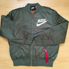 Japan AIR TOKYO FLIGHT BOMBER JACKET OLIVE GREEN SIZE LARGE URBAN ANARCHY NIKE