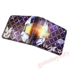 Game Halo Bifold Leather Purse Wallet Gift New
