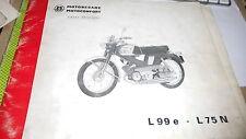 Catalogue pieces détachées motobecane/motoconfort  L99e - L75 N