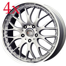 TibDrag Wheels DR-19 16x7 5x100 5x114 Silver Rims For Civic Accord Camry Solara