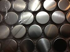 """7/8"""" stainless steel penny tile (mosaic)"""