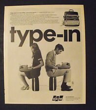 1967 SCM Corporation Smith Corona Type-In Portable Typewritter Print Trade Ad