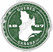 Quebec Canada Country Map Grunge Stamp Car Bumper Vinyl Sticker Decal 4.6""