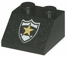 Missing Lego Brick 3039px44 Black Slope Brick 45 2 x 2 with Police Yellow Star B
