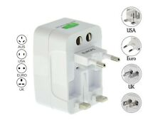 US to EU Europe and Universal AC Power Plug World Travel Adapter Converter 2016