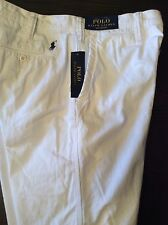 NEW RALPH LAUREN POLO CHINO SHORTS WHITE  $75  RELAXED FIT BLUE  PONY 32